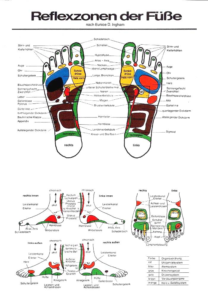 Massagepraxis Zarda » Fussreflexzonen
